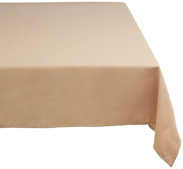 Beige Polyester Tablecloth 60x84