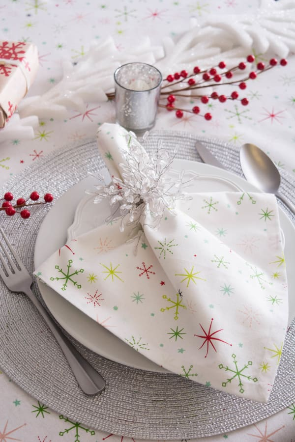 Christmas Star Print Tablecloth 60x104