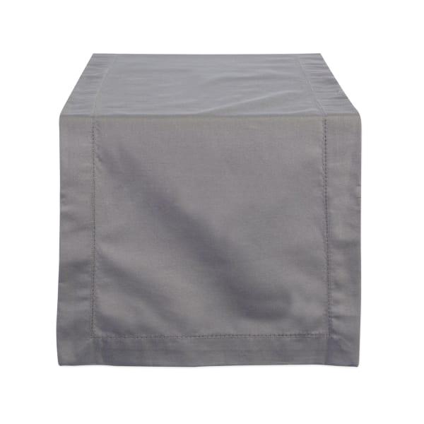 Gray Hemstitch Table Runner 14x72