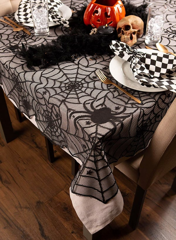 Halloween Lace Tablecloth 54x72