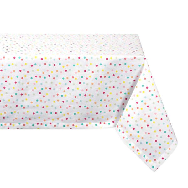 Multi Polka Dots Print Tablecloth 60x104