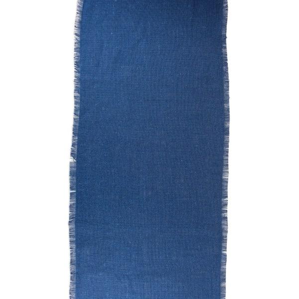 Nautical Blue Jute Table Runner 15x74