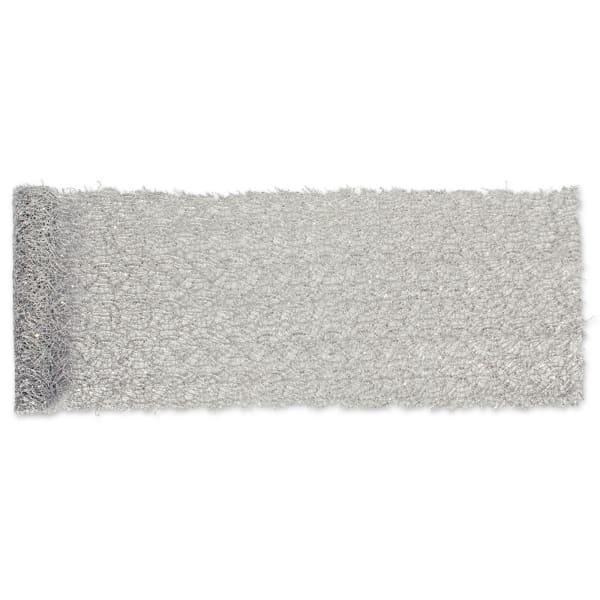 Silver Sequin Mesh Table Runner Roll 16inx10ft