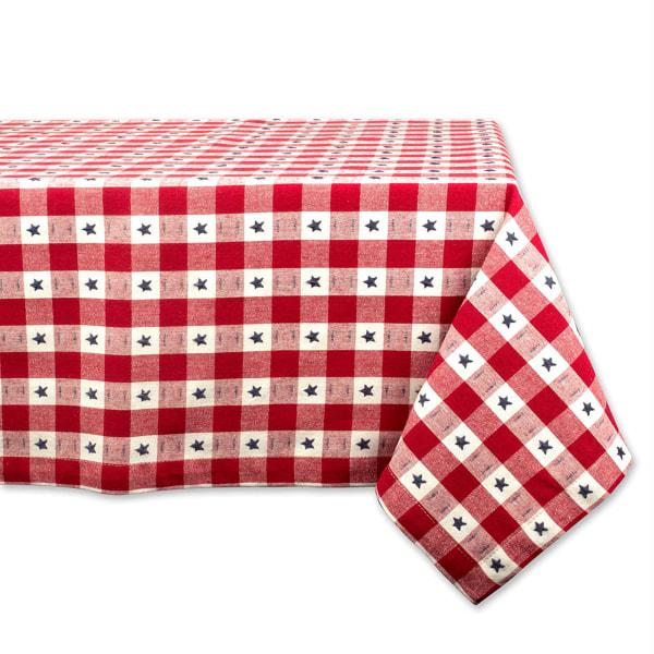 Star Check Tablecloth 52x52
