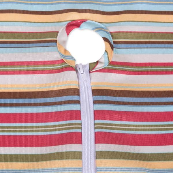 Summer Stripe Outdoor Table Runner With Zipper 14x72