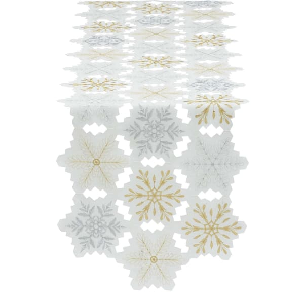 Embroidered Snowflakes Table Set