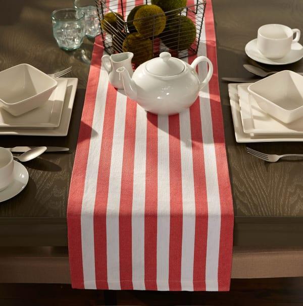 Fruit Punch Cabana Stripe Table Runner 13x72