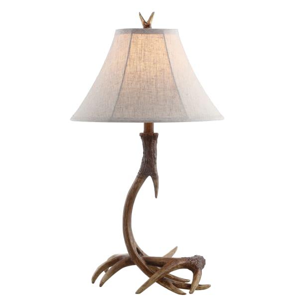 Antler Rustic Resin Table Lamp, Brown