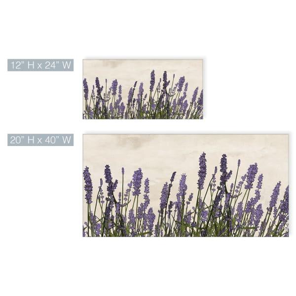 Poetic Flora XX Purple Canvas Botanical Wall Art