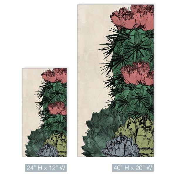 Poetic Flora XXI Green Canvas Succulent Wall Art