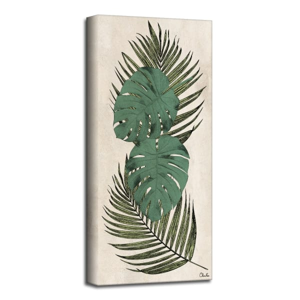 Poetic Flora XXXIV Green  Canvas Botanical Wall Art