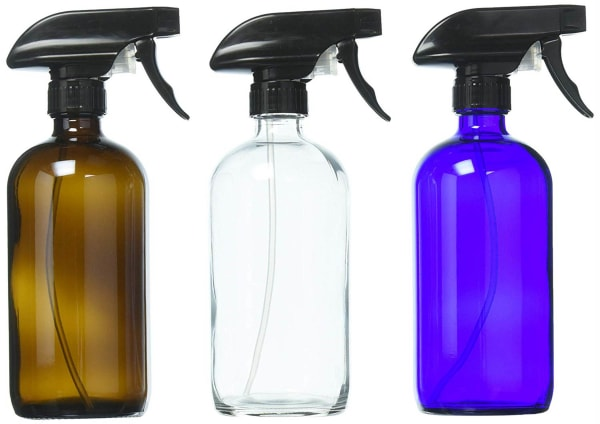 16oz Glass Bottles (Set of 3) With Labels