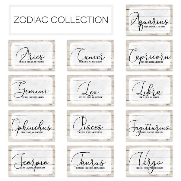 Zodiac Canvas Textual Wall Art - Gemini