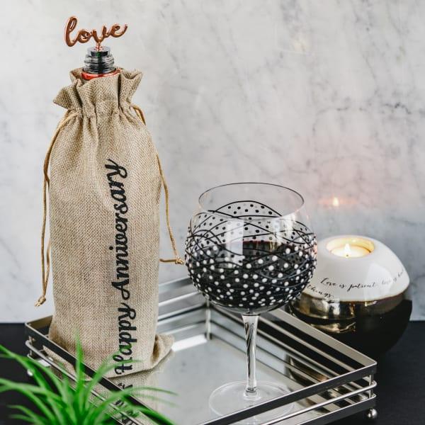Anniversary - Wine Gift Bag Set