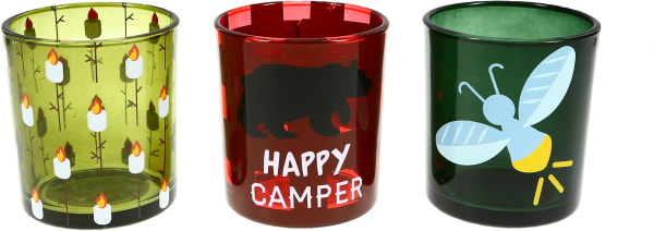 Camp -  3 Assorted Votive Holders