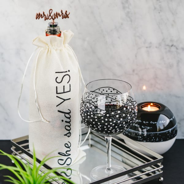 She Said Yes - Wine Gift Bag Set