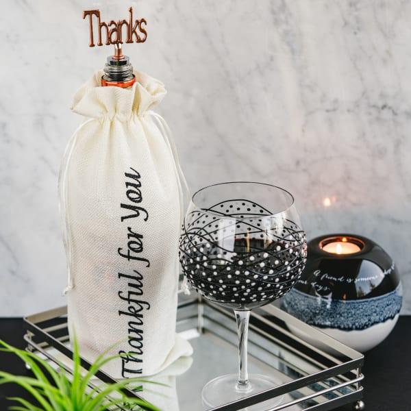 Thanks - Wine Gift Bag Set