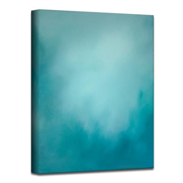 Underwater Clouds XI Teal Modern Coastal Canvas Wall Art