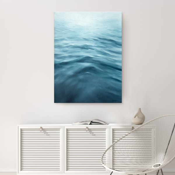 Underwater Clouds XXI Blue Modern Coastal Canvas Wall Art