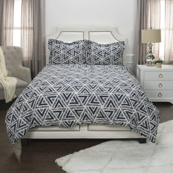 Blue 100% Cotton Geometric 96