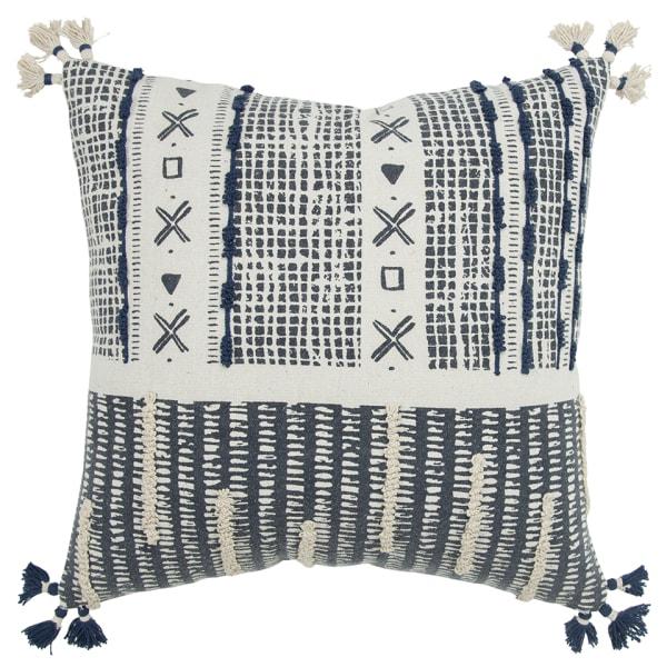 Canvas Irregular Tribal Stripe Filled Pillow
