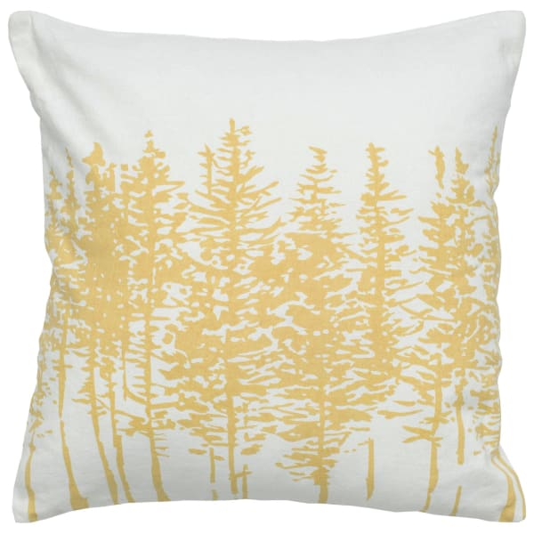 Trees Yellow Pillow Cover