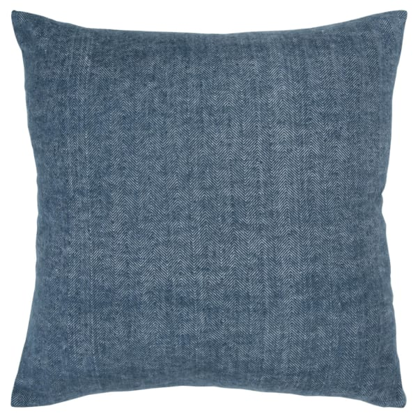 Solid Tweed Blue Poly Filled Pillow