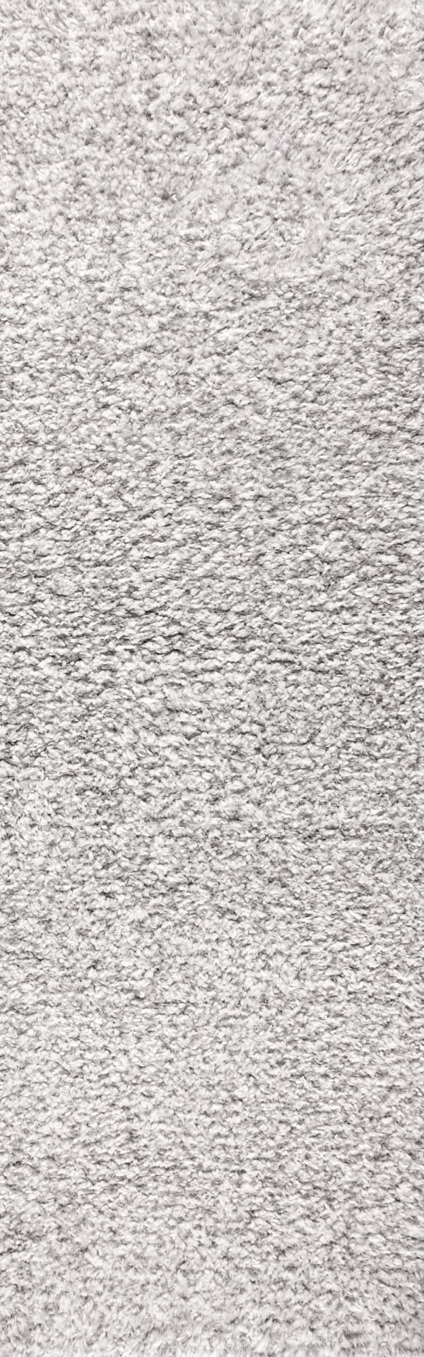 Plush Shag Mingled Gray/Ivory 2.25' x 8' Runner Rug