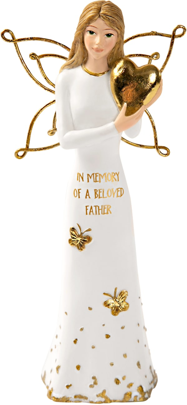 Beloved Father - Angel Holding a Heart