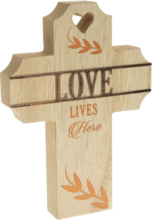 Love - Self Standing Cross Plaque
