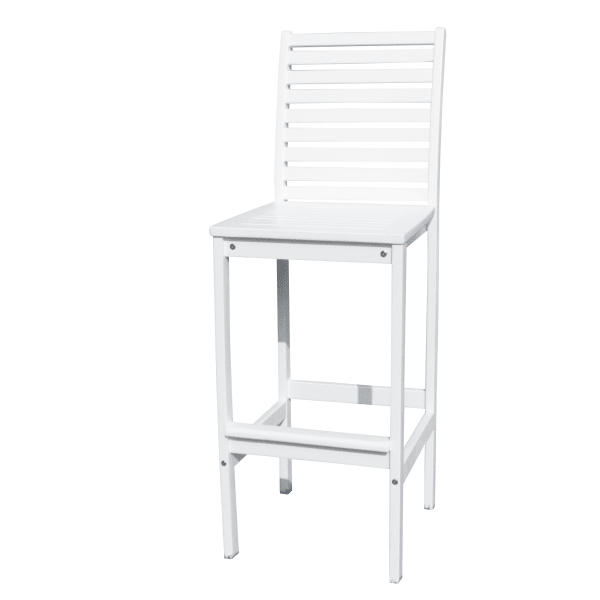 White Outdoor Wood Bar Chair