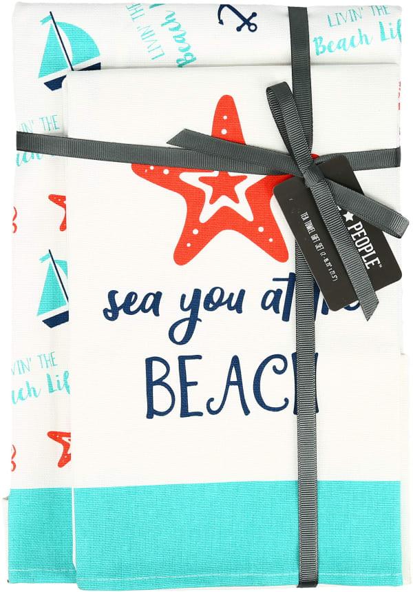 Beach - Tea Towel Gift Set (2)