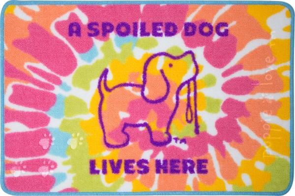 Spoiled Dog Lives Here Tie Dye Floor Mat