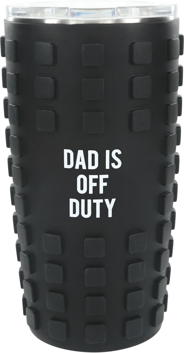 Dad Off Duty - Travel Tumbler with 3D Silicone Wrap