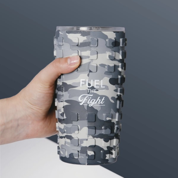 Fight - Travel Tumbler with 3D Silicone Wrap