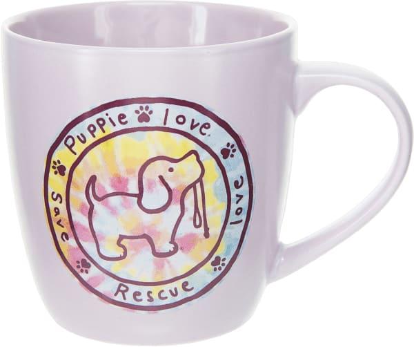 Pink Tie Dye Filled Logo - Cup