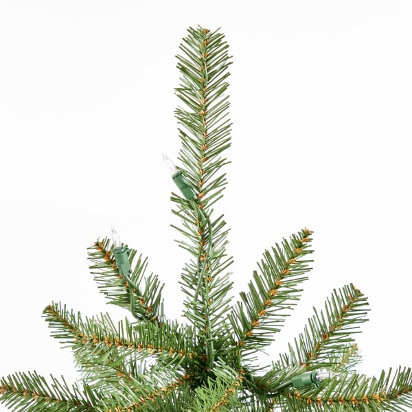 4.5-foot Fraser Fir Pre-Lit Clear String Light Hinged Artificial Christmas Tree
