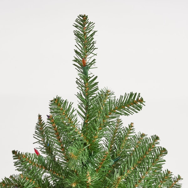 4.5-foot Fraser Fir Pre-Lit Multi-Colored String Light Hinged Artificial Christmas Tree