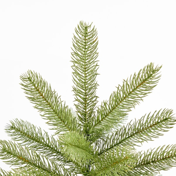 4.5-foot Mixed Spruce Unlit Hinged Artificial Christmas Tree