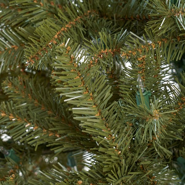 7.5-foot Fraser Fir Pre-Lit Clear String Light Hinged Artificial Christmas Tree