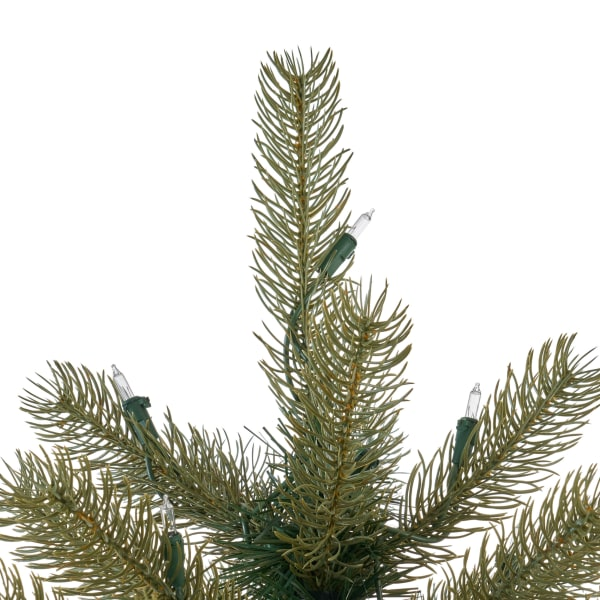 7.5-foot Mixed Spruce Pre-Lit Clear String Light Hinged Artificial Christmas Tree