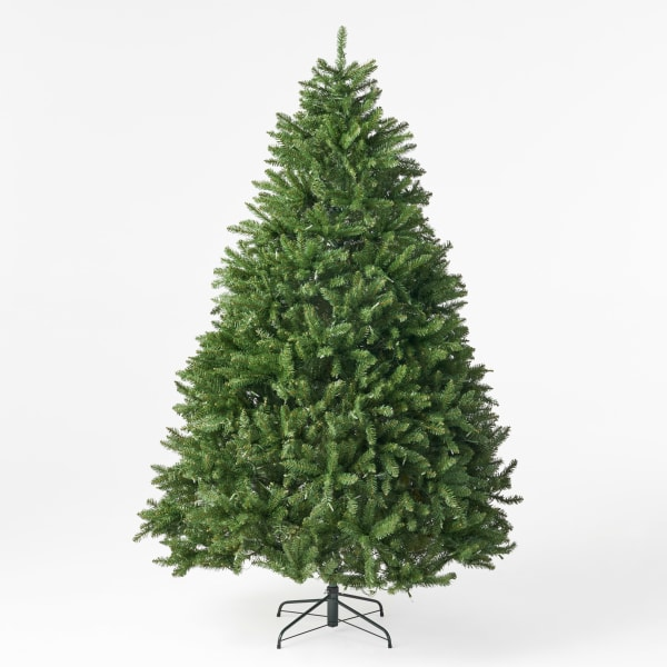 7.5-foot Norway Spruce Pre-Lit Clear LED Hinged Artificial Christmas Tree