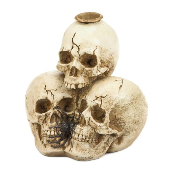 Triple Skull Candleholder