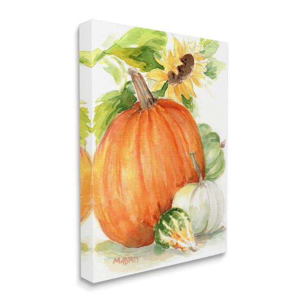 Pumpkin Sunflower and Gourd Fall Farm Harvest Wall Art