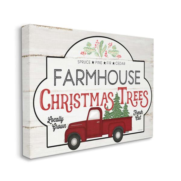 Rustic Farmhouse Christmas Tree Vintage Sign Wall Art