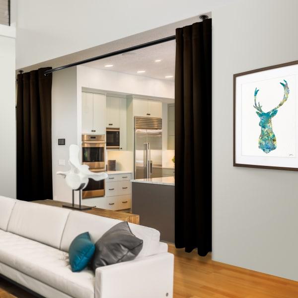 Room Darkening Curtain 108 inch Height - 1 Panel - Size: 96Wx108H - Chocolate