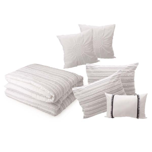 6 Piece Rhythmic Melody Cotton Comforter Set