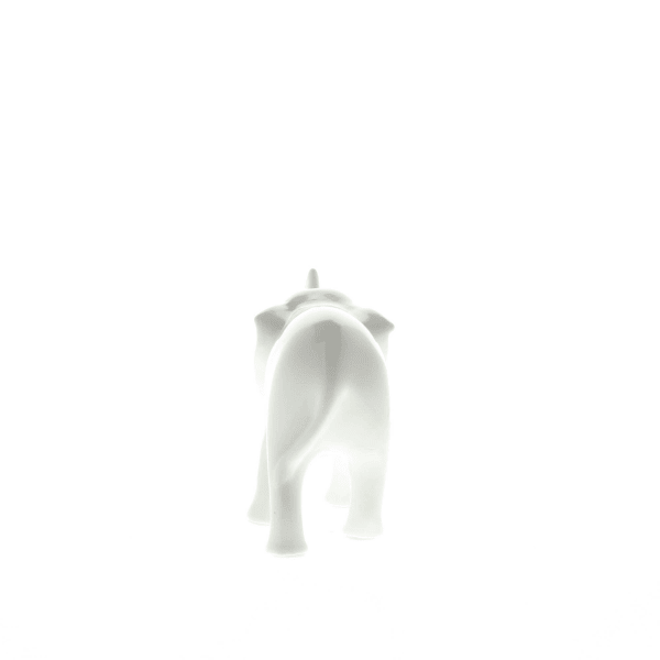 Sleek White Ceramic Elephant
