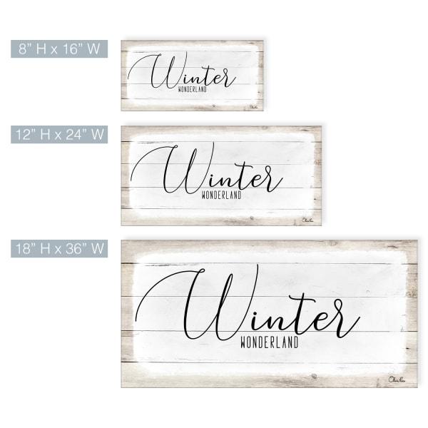 Winter Wonderland White Holiday Canvas Wall Art
