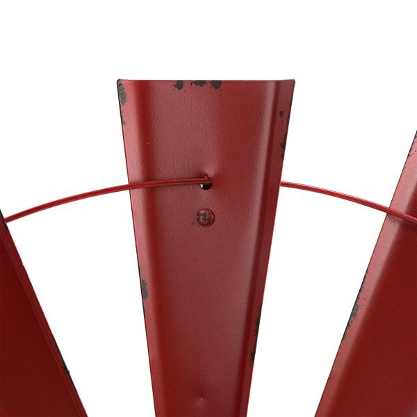 Vintage Red  Half Wind Spinner Wall Decor